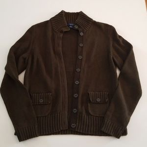 Chaps Size Large Sweater color Dark Green